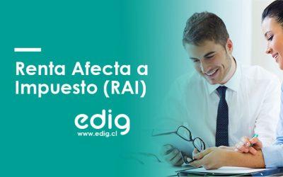Registro Renta Afecta a Impuesto: RAI