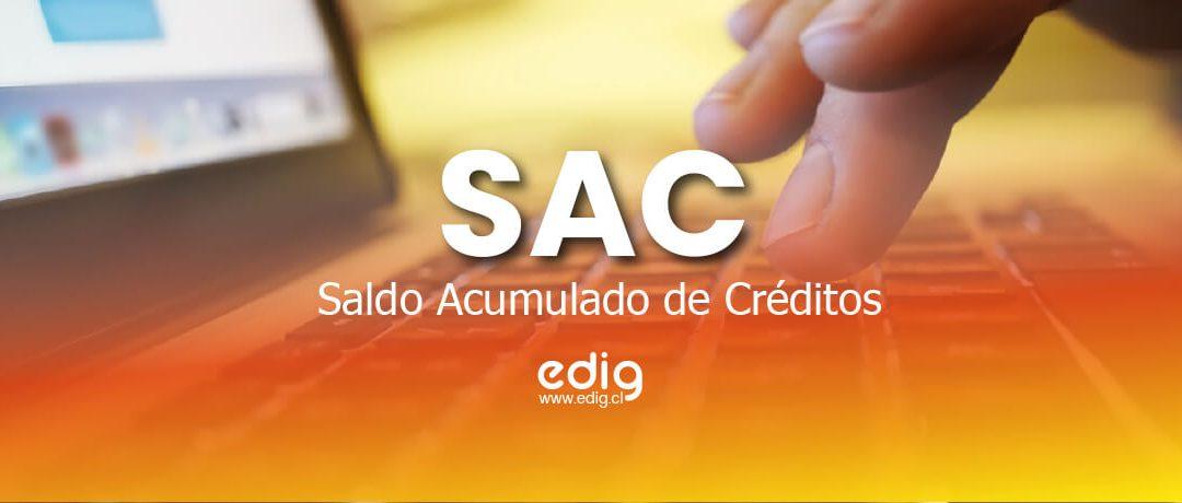 Saldo Acumulado de Créditos: Registro SAC