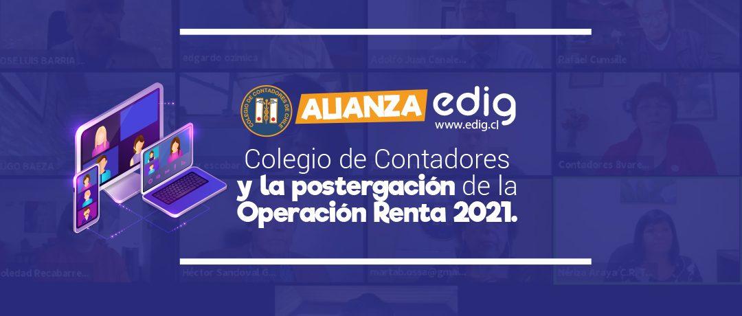 Colegio de Contadores y otros organismos se unen para la postergación de la Operación Renta 2021