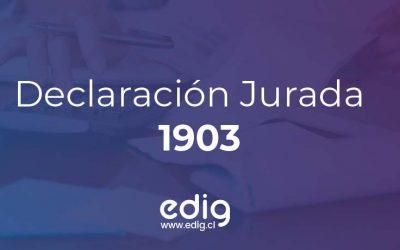 Declaración Jurada 1903 de Cotizaciones de Seguro Social