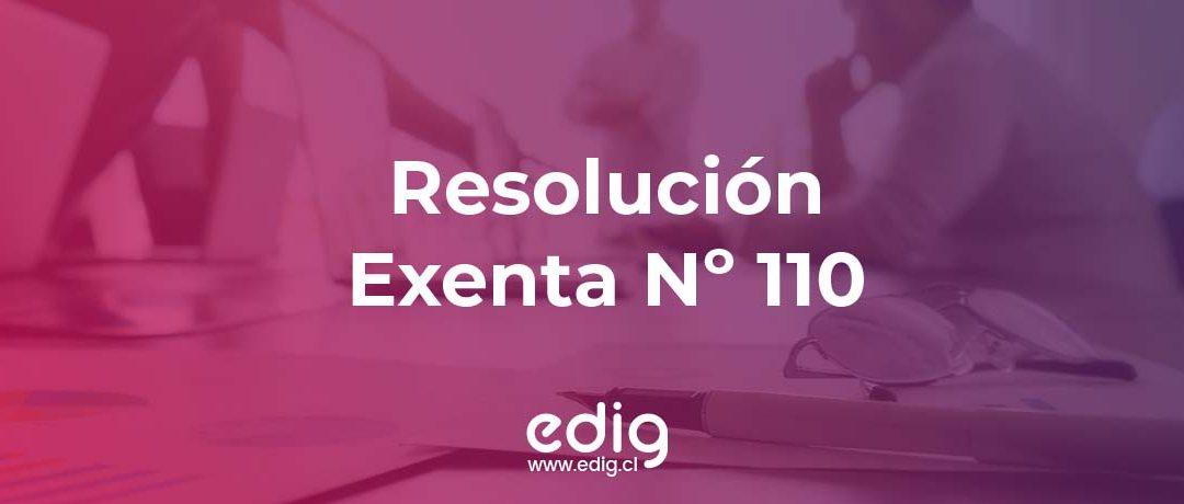 Resolución Exenta Nº 110: Procedimiento para la retención del 3%